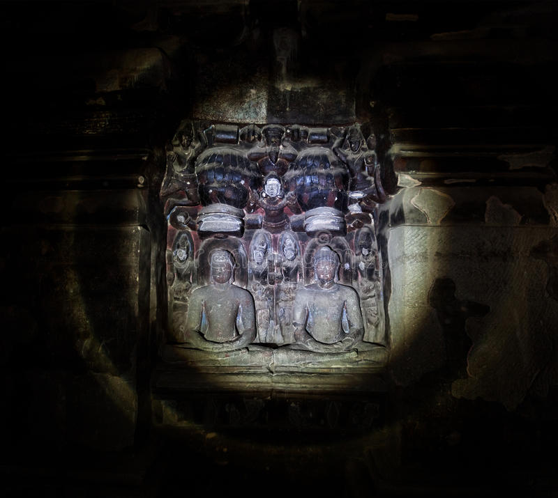 Ellora caves in India royalty free stock photography