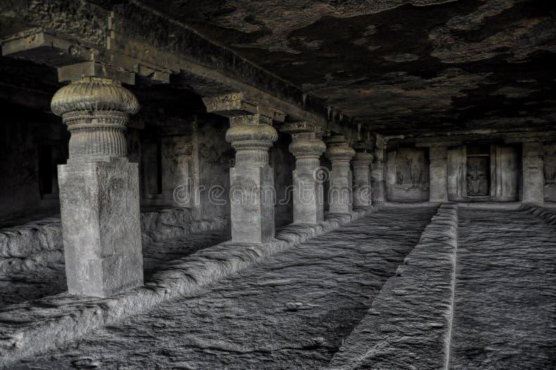 Ellora caves in India stock photo
