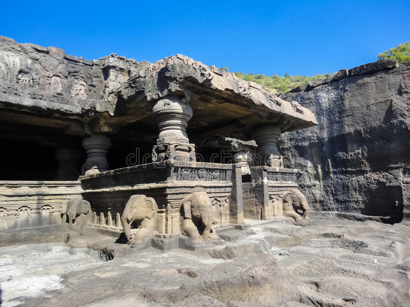 Ellora Caves in India stock images