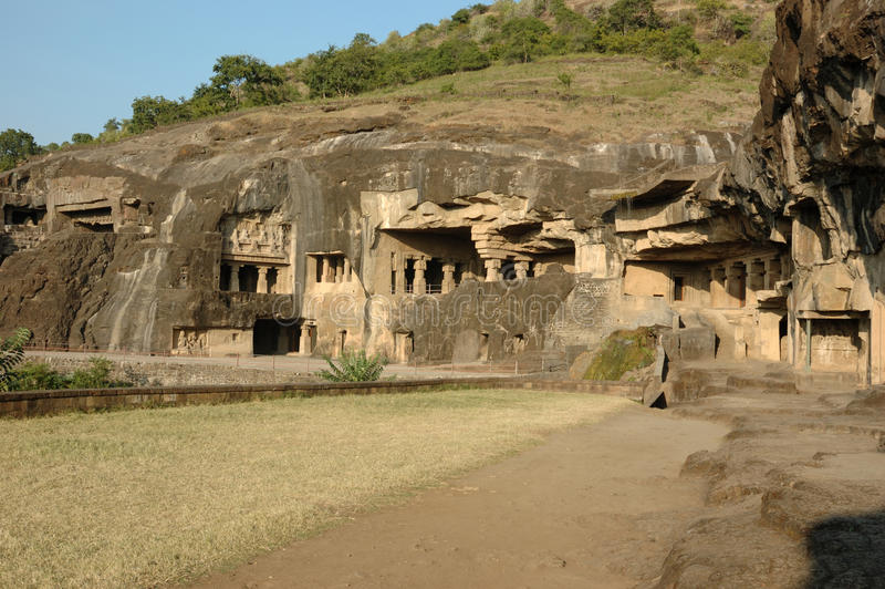 Ellora - complexo religioso grande da caverna, India imagem de stock