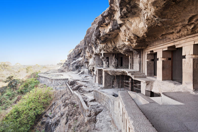 Ellora-Höhlen, Aurangabad lizenzfreie stockbilder