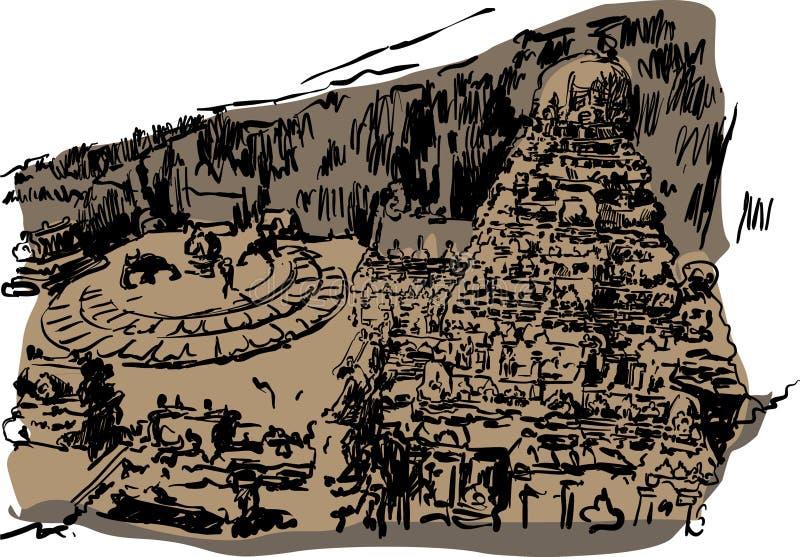 Ellora Temple Vector illustration for designs vector illustration