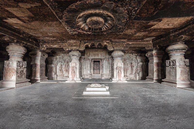 Elloraholen, Aurangabad royalty-vrije stock afbeeldingen