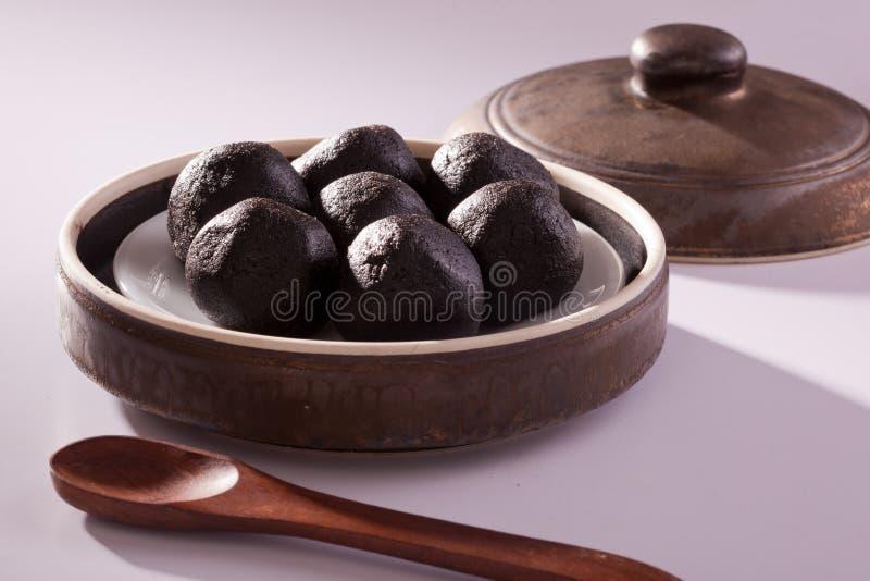 Ellu urundai - sesame balls from India stock photo