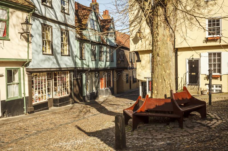 Elm Hill Norwich stock photo