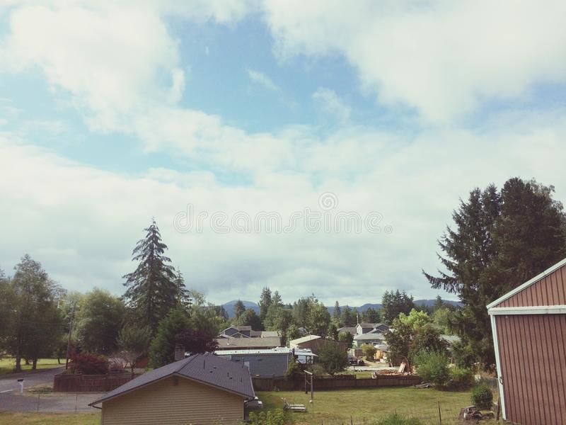 Elma TownScape foto de archivo