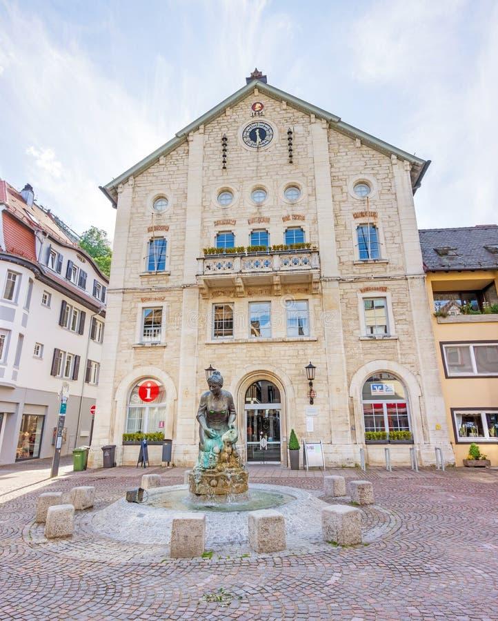 Elmar-Doch-Haus, Heidenheim um der Brenz, área pedestre imagem de stock