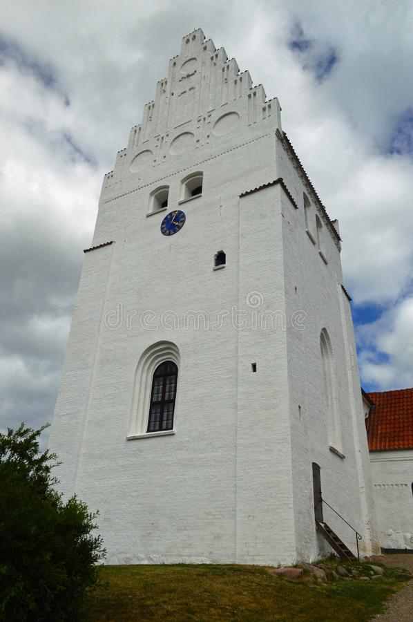 Elmelunde Church Møn. Elmelunde Church, famous for its frescos, is located in the village of Elmelunde, Møn, in southeastern Denmark. It stands high above royalty free stock photo