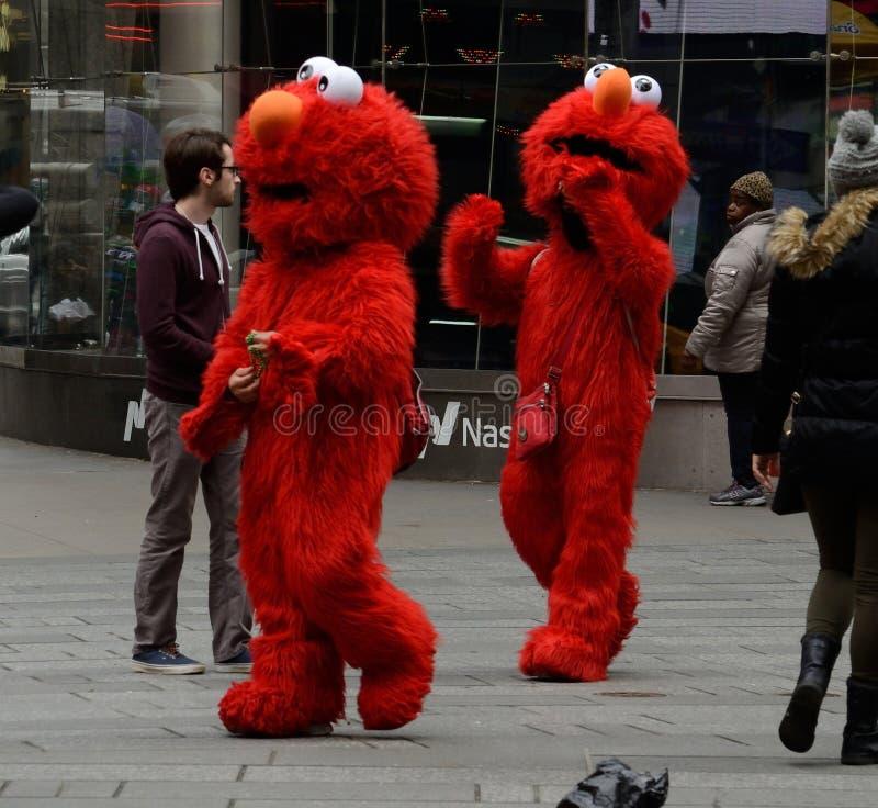 Elmo Panhandlers NYC Tom Wurl fotografie stock