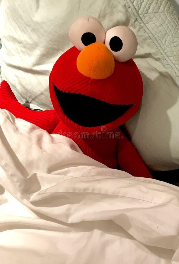 Elmo sleepover royaltyfri bild