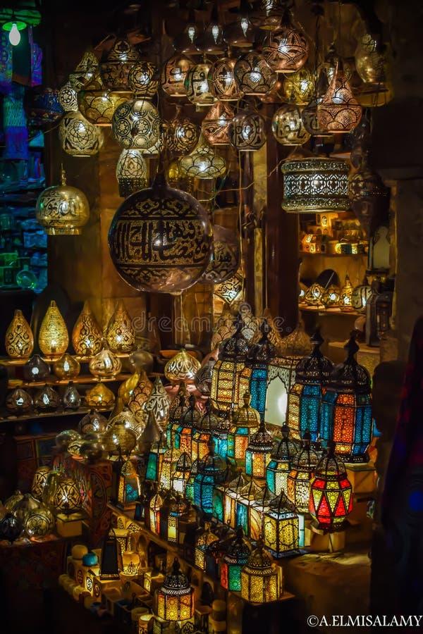 Elmoezstraat Kaïro Egypte royalty-vrije stock foto