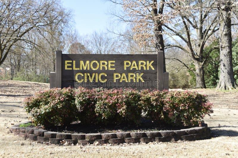 Elmore Park Civic Park Recreational-Gebied, Bartlett, TN stock foto's
