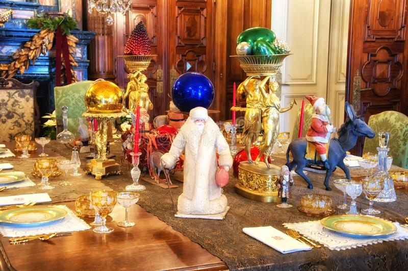 Elms Mansion Christmas newport rhode island stock photography