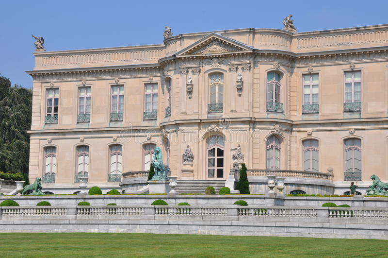 The Elms Mansion in Newport. Rhode Island royalty free stock photos