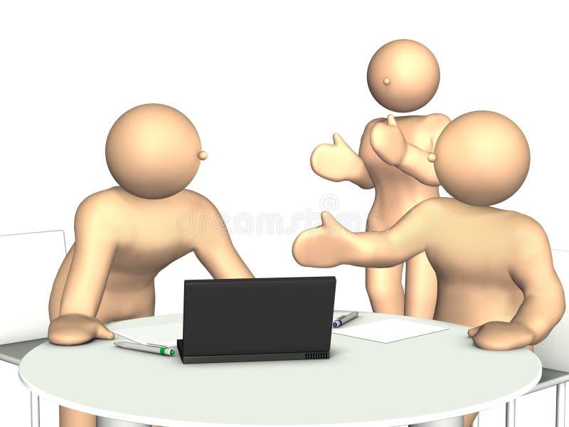 Elogiado na reunião ilustração royalty free
