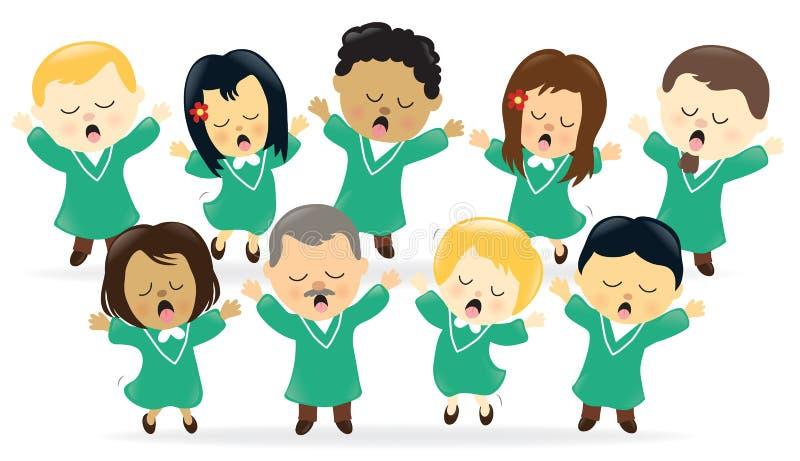Elogio di canto del coro illustrazione vettoriale