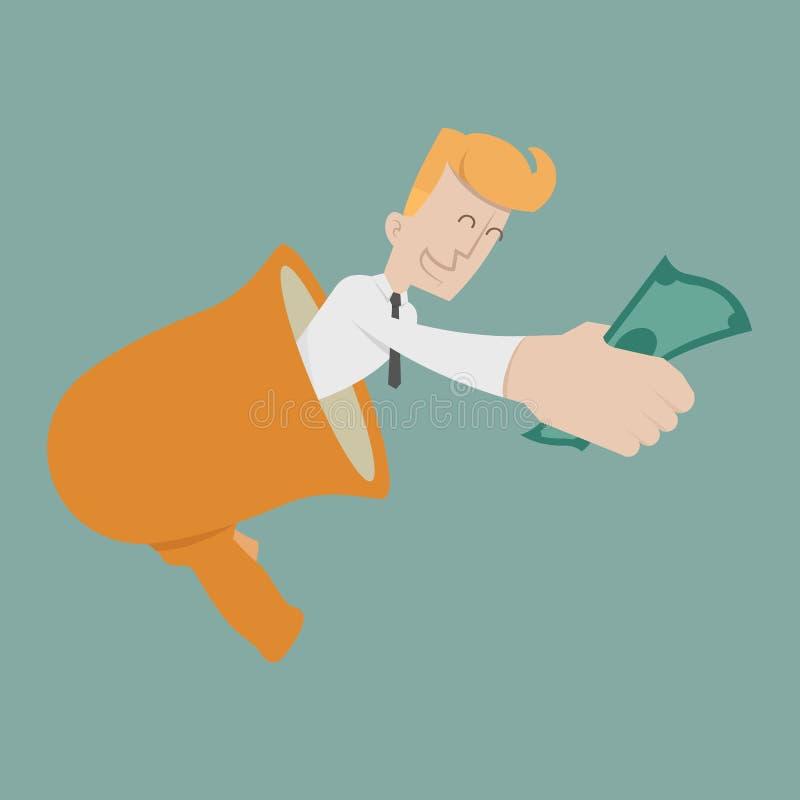 Elogio do homem de negócios ilustração stock