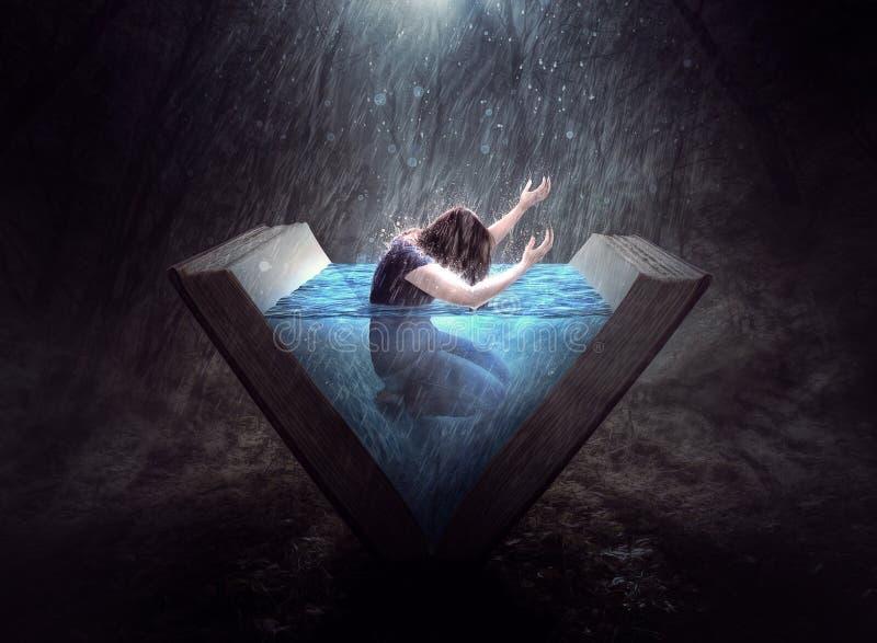 Elogio nella pioggia fotografia stock libera da diritti
