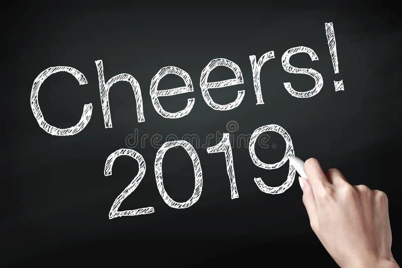 Elogios 2019 com mão foto de stock royalty free