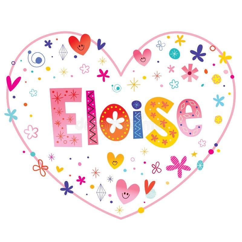Eloise女孩命名 库存例证