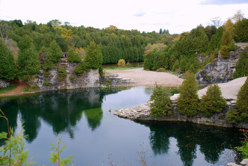 Elora. Park is situated in Elora, Canada, Ontario royalty free stock photos