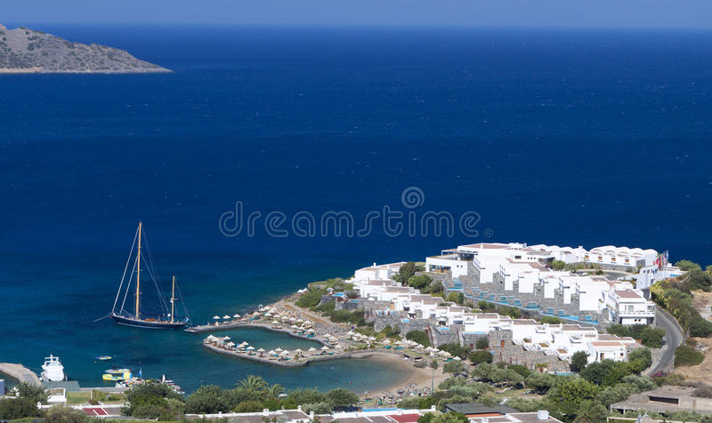 Elounda Bay At Crete Island In Greece Stock Images