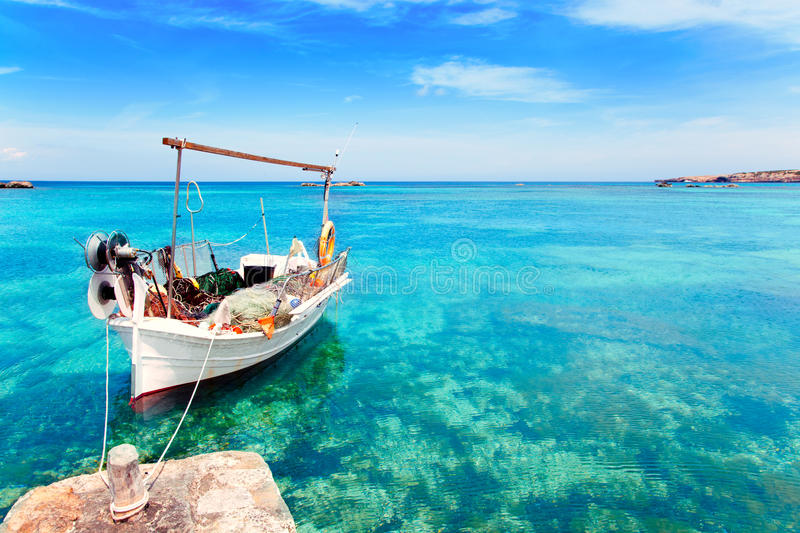 Els Pujols beach in Formentera royalty free stock photography