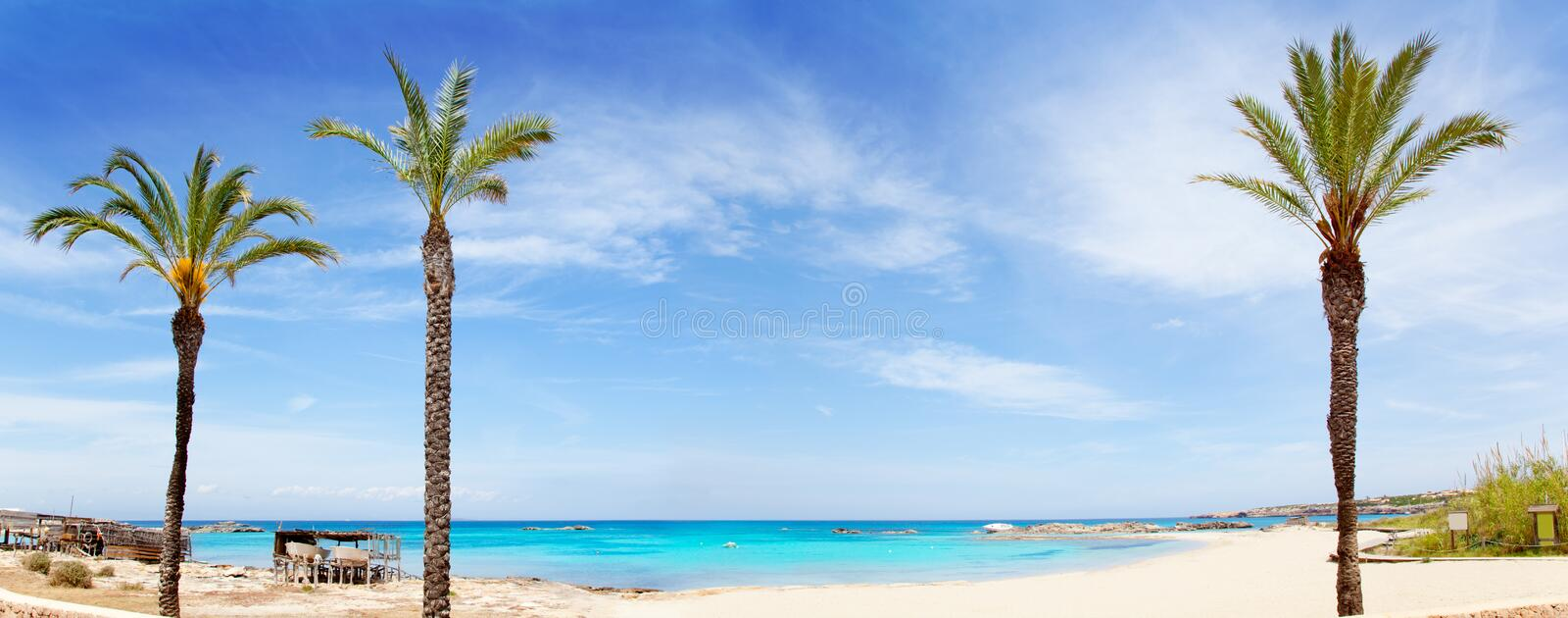 Download Els Pujols Formentera Beach With Turquoise Water Stock Image - Image of islet, coast: 25411361