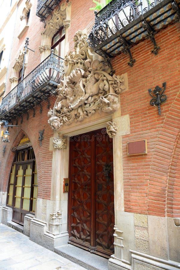 Els Quatre Gats, Casa Martí, Barcelona, Hiszpania obrazy stock