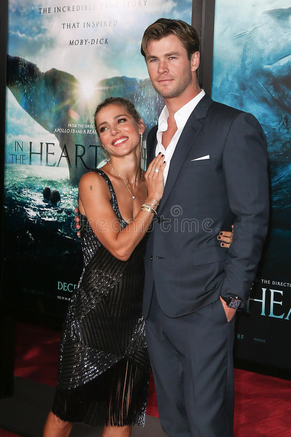 Elsa Pataky, Chris Hemsworth royalty-vrije stock foto