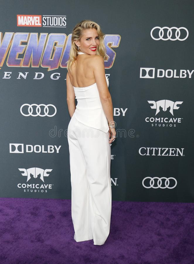 Elsa Pataky. At the World premiere of `Avengers: Endgame` held at the LA Convention Center in Los Angeles, USA on April 22, 2019 royalty free stock photos