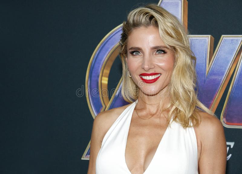 Elsa Pataky. At the World premiere of `Avengers: Endgame` held at the LA Convention Center in Los Angeles, USA on April 22, 2019 stock image