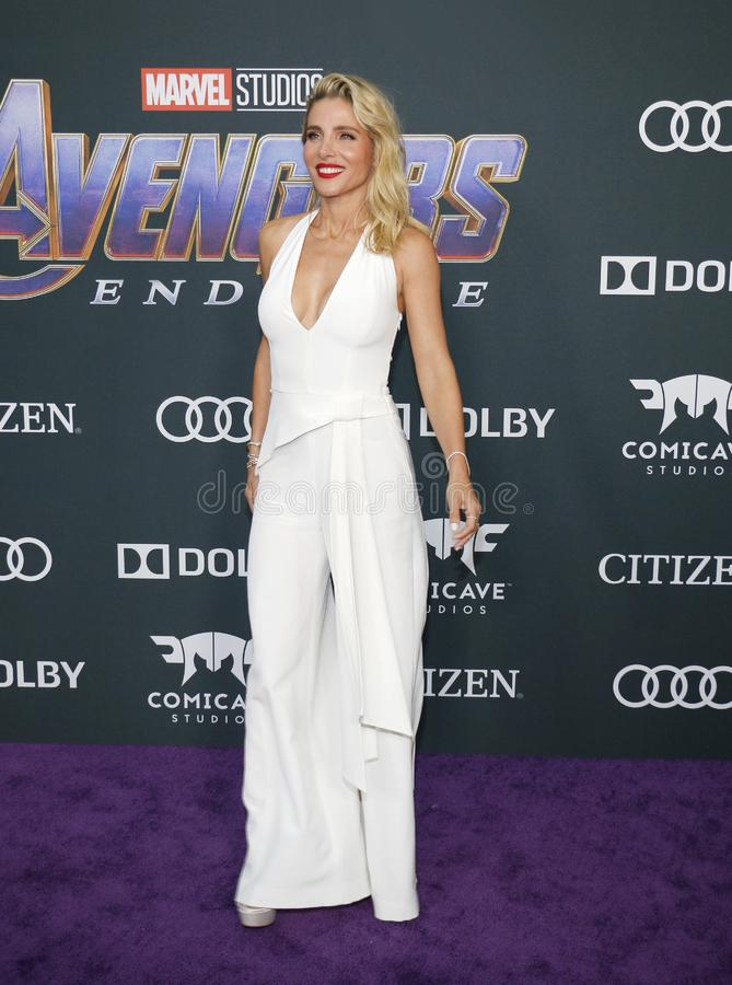 Elsa Pataky. At the World premiere of `Avengers: Endgame` held at the LA Convention Center in Los Angeles, USA on April 22, 2019 stock photos
