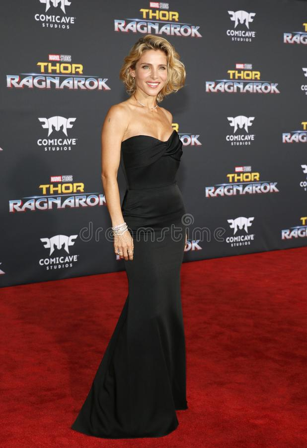 Elsa Pataky. At the World premiere of `Thor: Ragnarok` held at the El Capitan Theatre in Hollywood, USA on October 10, 2017 royalty free stock photos