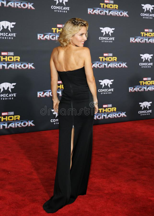Elsa Pataky. At the World premiere of `Thor: Ragnarok` held at the El Capitan Theatre in Hollywood, USA on October 10, 2017 stock photo