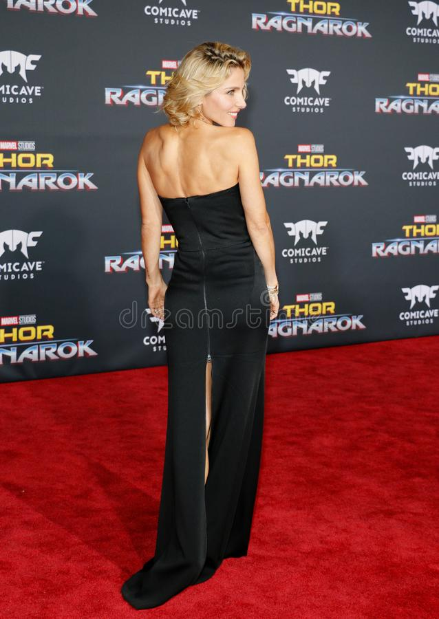 Elsa Pataky. At the World premiere of `Thor: Ragnarok` held at the El Capitan Theatre in Hollywood, USA on October 10, 2017 royalty free stock images