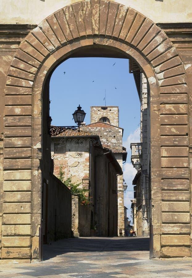 elsa val tuscany för colle D arkivfoto