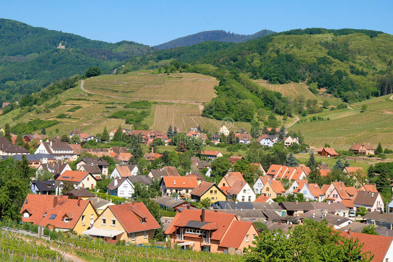 Elsass-Weg-DES Vins stockbild