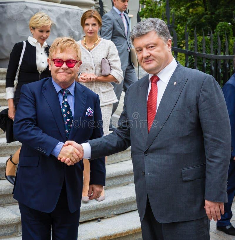 Elton John à Kiev photo stock
