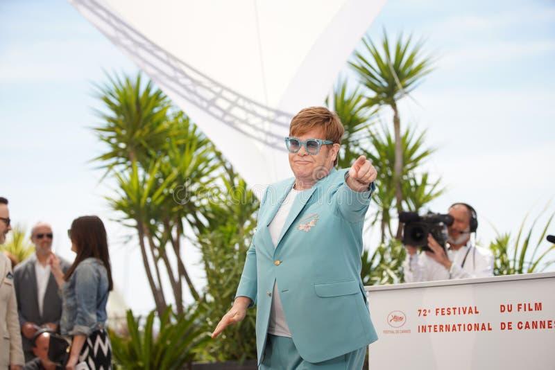 Elton John ucz?szcza photocall dla zdjęcia royalty free