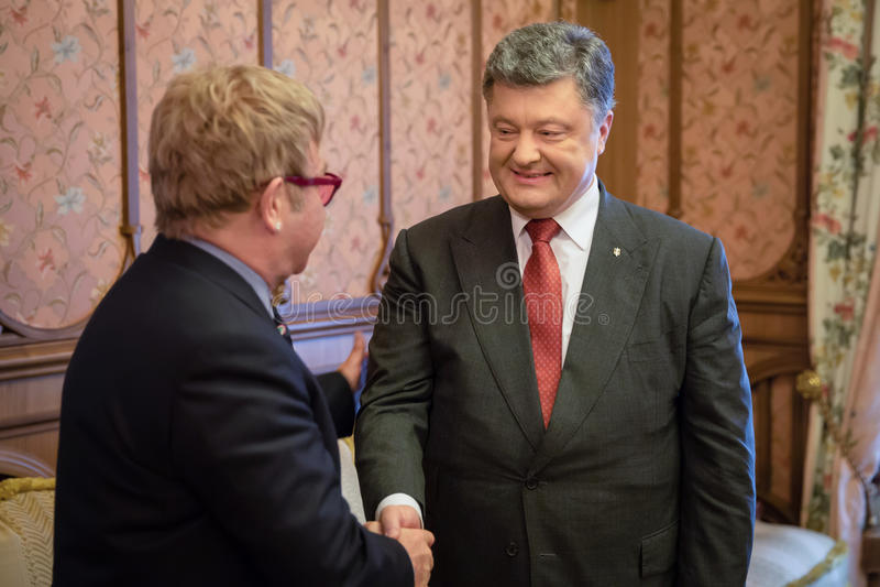 Elton John w Kijów fotografia stock