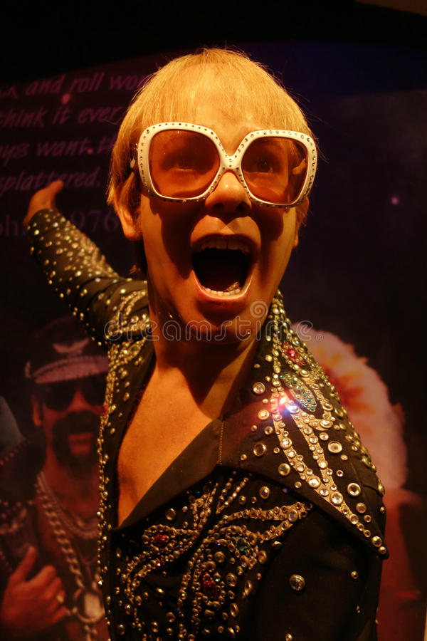 Elton John wosku postać obraz stock