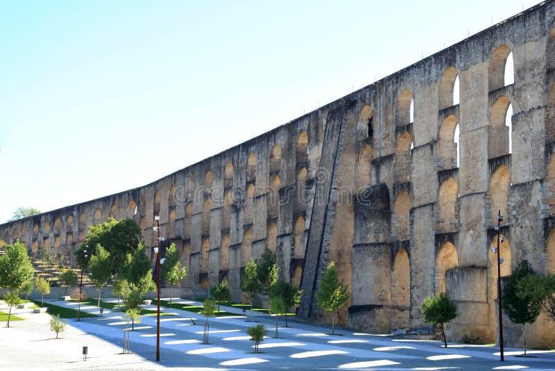 elvas Португалия мост-водовода amoreira стоковое изображение