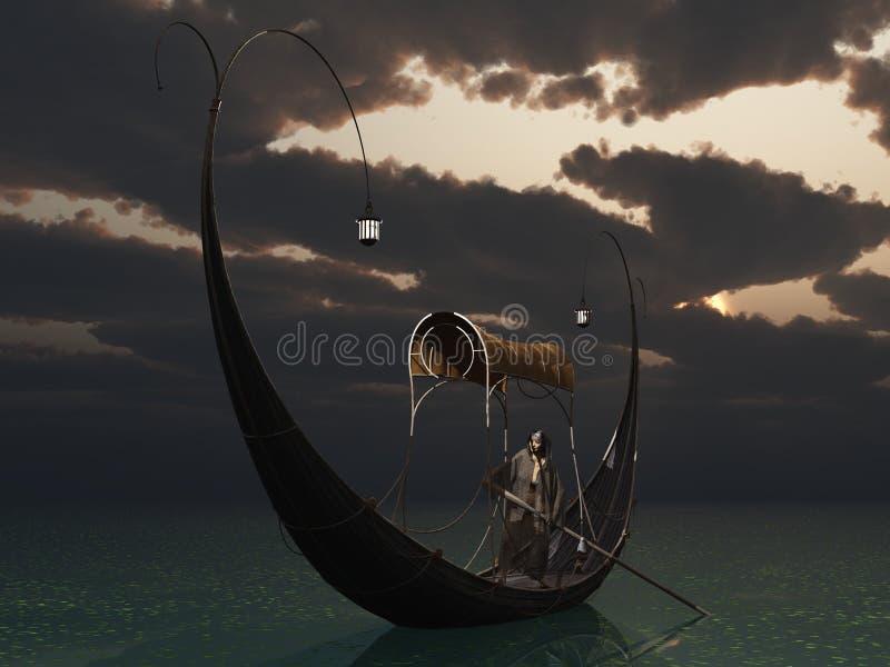 elven长平底船 皇族释放例证