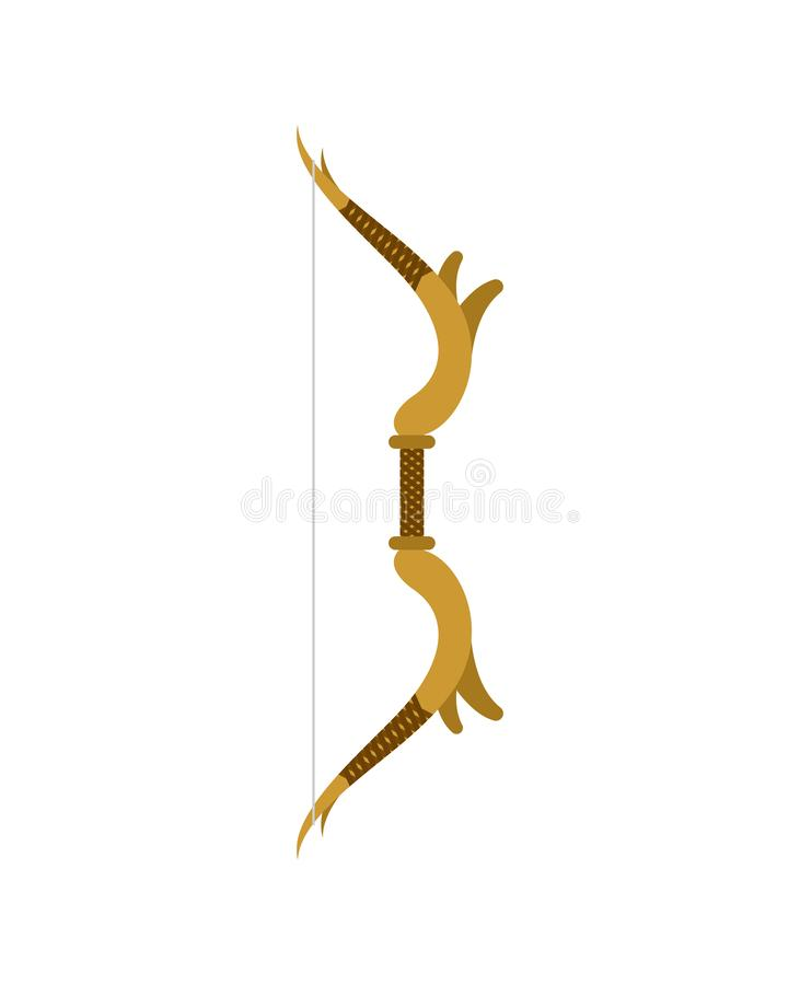 Elven Bow isolated. Fantastic weapon elf. vector.  royalty free illustration