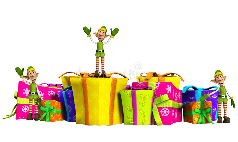 Download Elves With Christmas Gifts Stock Photos - Image: 28002493