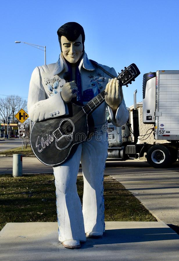 Elvis στη διαδρομή 66 στοκ φωτογραφία με δικαίωμα ελεύθερης χρήσης