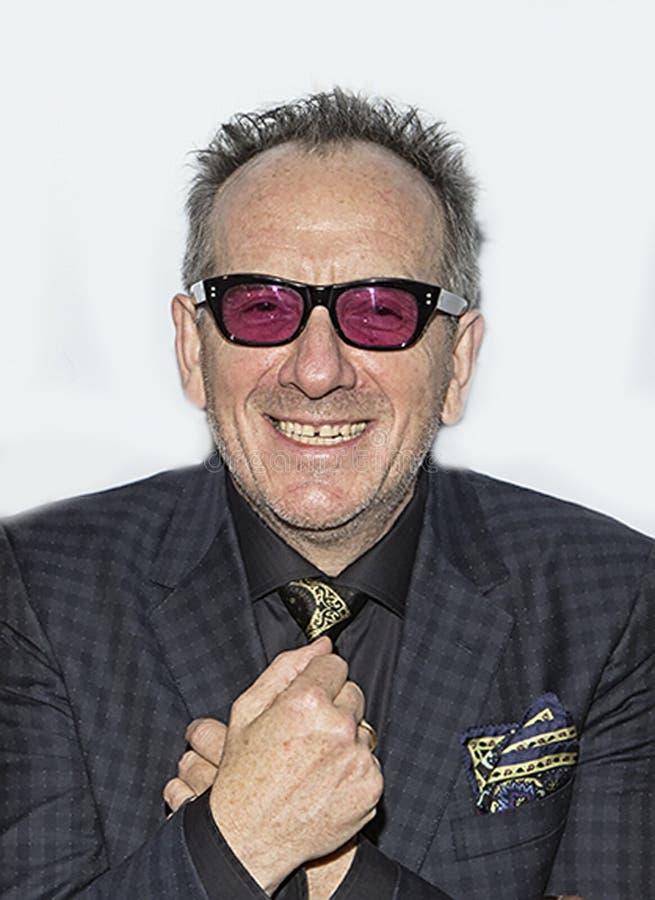 Elvis Costello royaltyfri foto