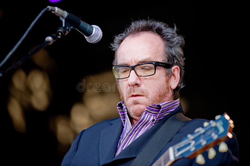 Elvis Costello and the Imposters royalty free stock photos