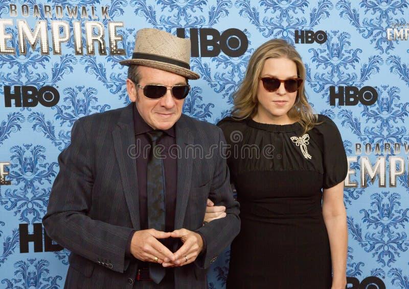 Elvis Costello och Diana Krall royaltyfria foton